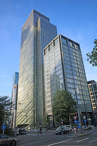"""Hochhaus Marienturm, Taunusanlage, Frankfurt/Main, Ermittlung Mietflächen nach gif aus CAD-Planung (""""planimetrisches Aufmaß"""")"""